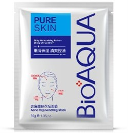 Тканевая маска Bioaqua Pure Skin Acne & Rejuvenation Moisturizing Mask - фото 3536012