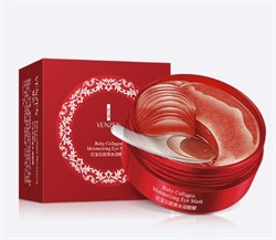 Гидрогелевые патчи Venzen Ruby Collagen Moisturizing Eye Mask - фото 3536552