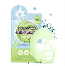 Тканевая маска Berrisom Water Bomb Jelly Mask Pore Care 33ml Очищение пор - фото 3560615