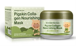 Ночная  маска Bioaqua Pigskin Collagen Nourishing Mask 100ml с коллагеном - фото 3580303