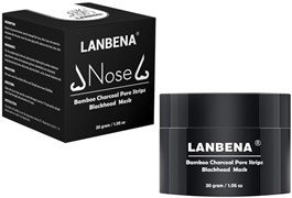 Маска от черных точек Lanbena Nose Bamboo Charcoal Pore Strips