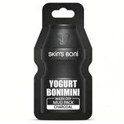 Глиняная маска для лица SKIN'S BONI Wash Off Mud Pack CHARCOAL (15ml) с йогуртом и углем