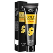 Маска-плёнка для лица Images Gold Collagen Mask с биозолотом и коллагеном  60гр