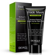 Черная маска-пленка от черных точек Bioqaua Blackhead Removal Bamboo Charcoal Black Face Deep Cleaning 60g