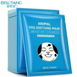 Тканевая маска Bisutang Animal Dog Soothing Mask 25 ml - фото 3542739