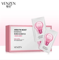 Набор: Эссенция для лица Venzen Arbutin Moist Essence 2ml*30шт. с арбутином и гиалуроном - фото 3573727