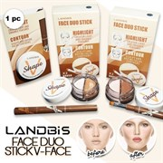 Набор хайлайтер+контуринг Face Duo Stick