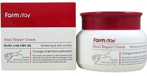 Крем для лица Farm Stay Snail Repair Cream Brightening & Anti-Wrinkle(100ml)