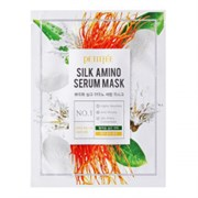 Тканевая маска Petitfee Silk amino serum mask 25ml протеины шелка