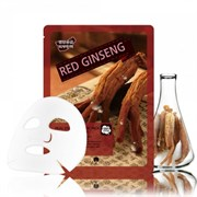 Тканевая маска May Island Real essence Red Ginseng красный женьшень