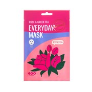Тканевая маска Dearboo Everyday Mask Rose+Green Tea  Revitalizing 27ml