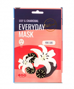 Тканевая маска Dearboo Everyday Mask Lily+Charcoal Pore Care 27ml