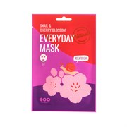 Тканевая маска Dearboo Everyday Mask Snail+Cherry Blosson Brightening 27ml